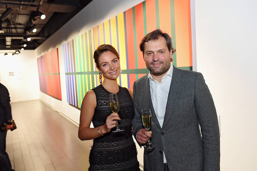 Илона Кесаева на открытии галереи ILONA-K artspace в деловом центре «Москва-Сити»