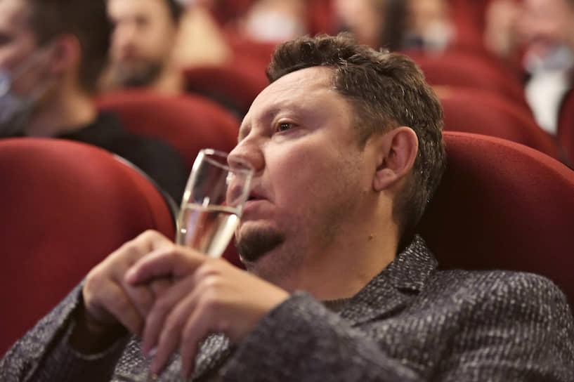 Сценарист Сергей Четверухин перед началом закрытого показа фильма «Сибирь» в кинотеатре «Иллюзион»