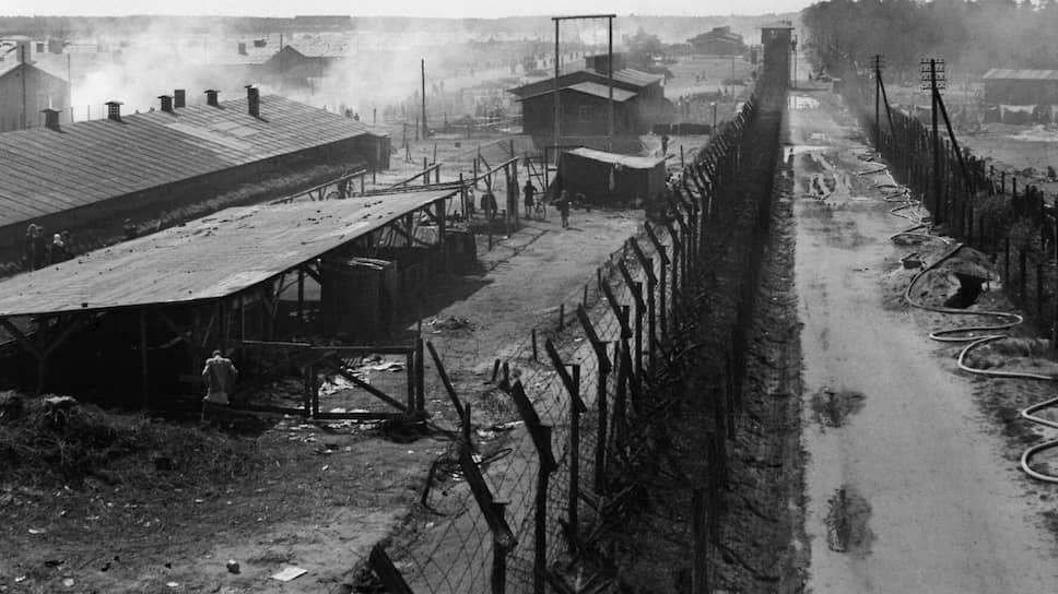 Концентрационный лагерь (до апреля 1943 года — лагерь для военнопленных) Берген-Бельзен. В нем, в отличие от других лагерей, не было газовых камер, но от голода, холода, болезней и других причин в нем умерли более 70тыс. человек, в том числе около 18тыс. советских военнослужащих