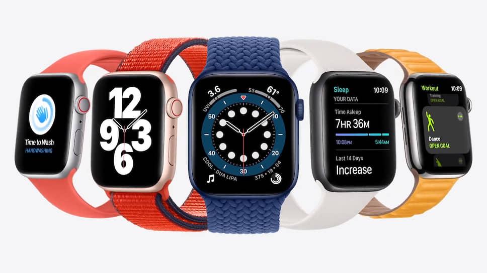 Компания Apple на онлайн-презентации представила две новые модели смарт-часов Apple Watch — Series 6 (на фото) и SE