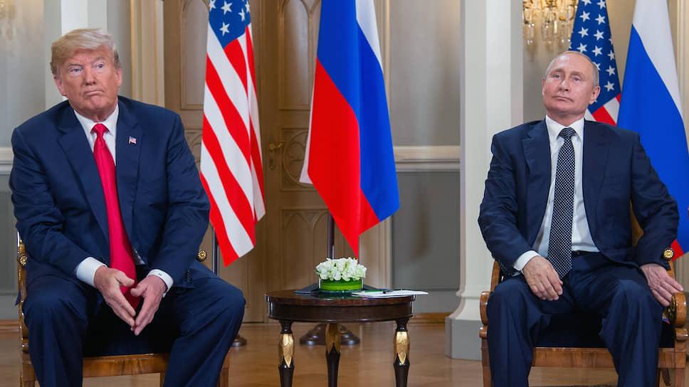 Президент США Дональд Трамп (слева) и президент России Владимир Путин
