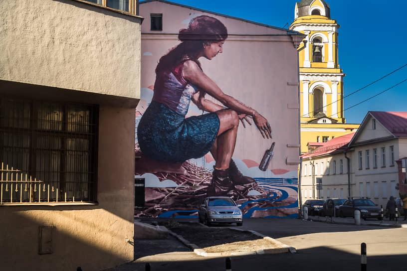 В сентябре 2019 года в Москве на фасаде дома 23/5 по улице Рождественка было закрашено граффити «Послание» австралийского художника-монументалиста Финтана Маги. Работа появилась на стене здания в 2014 году в рамках фестиваля уличного искусства MOST Moscow Street Art Festival