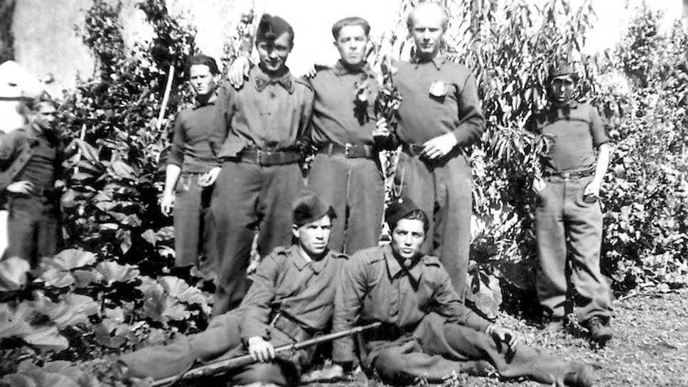 Ахмедия Джебраилов с группой французских партизан