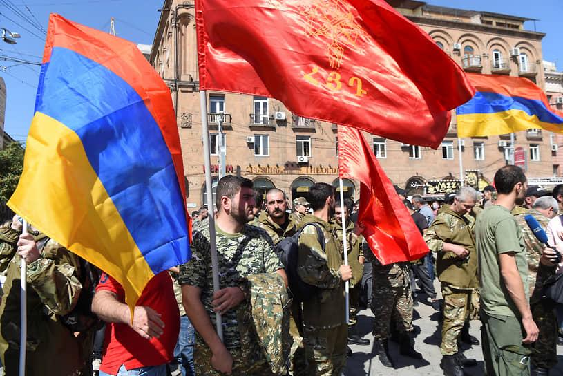 Митинг в Ереване после объявления всеобщей мобилизации