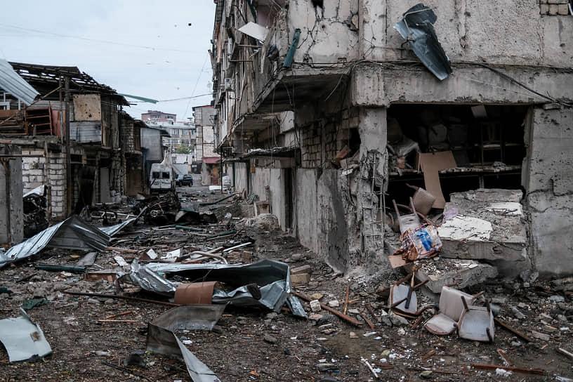 6 октября власти НКР заявили, что обстрелы Степанакерта (на фото) продолжаются