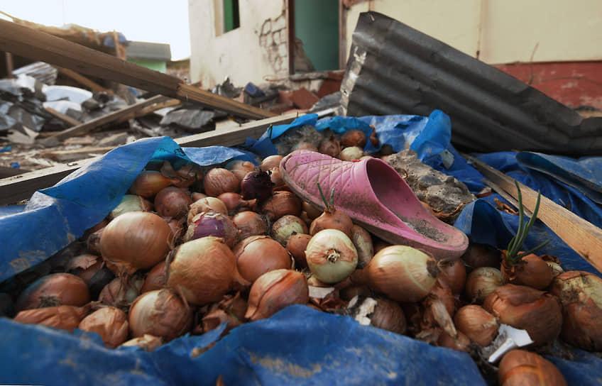 Последствия обстрелов в азербайджанском поселке Тертер