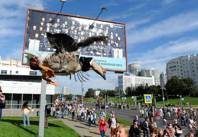 13 сентября. Минск. Оппозиционная акция протеста «Марш героев»