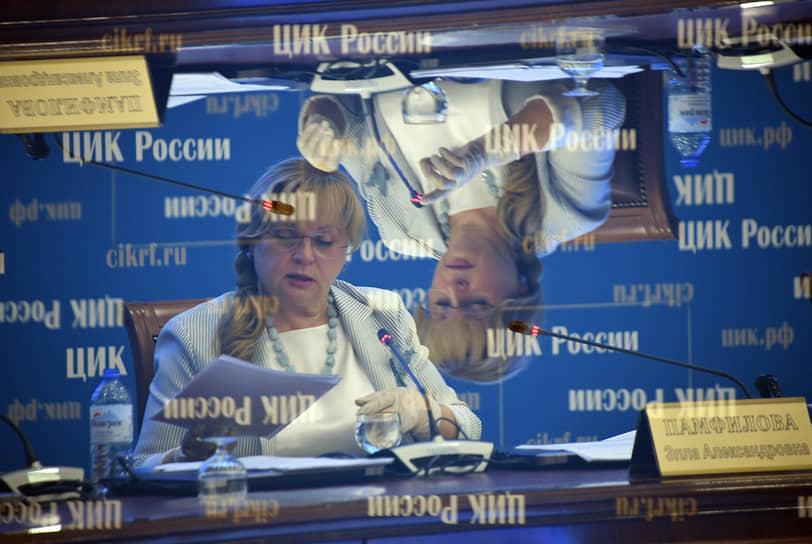 16 сентября. Москва. Председатель Центризбиркома России Элла Памфилова во время заседания