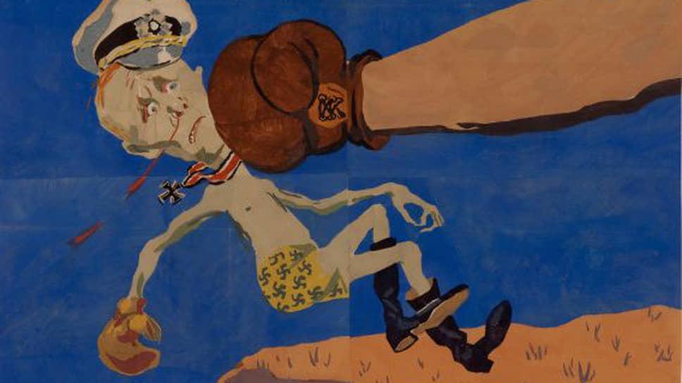 """Агитационный плакат Кукрыниксов из серии """"Окна ТАСС"""", посвященный победам британских союзников в Северной Африке, появился до того, как СССР заявил о своих претензиях на Ливию"""