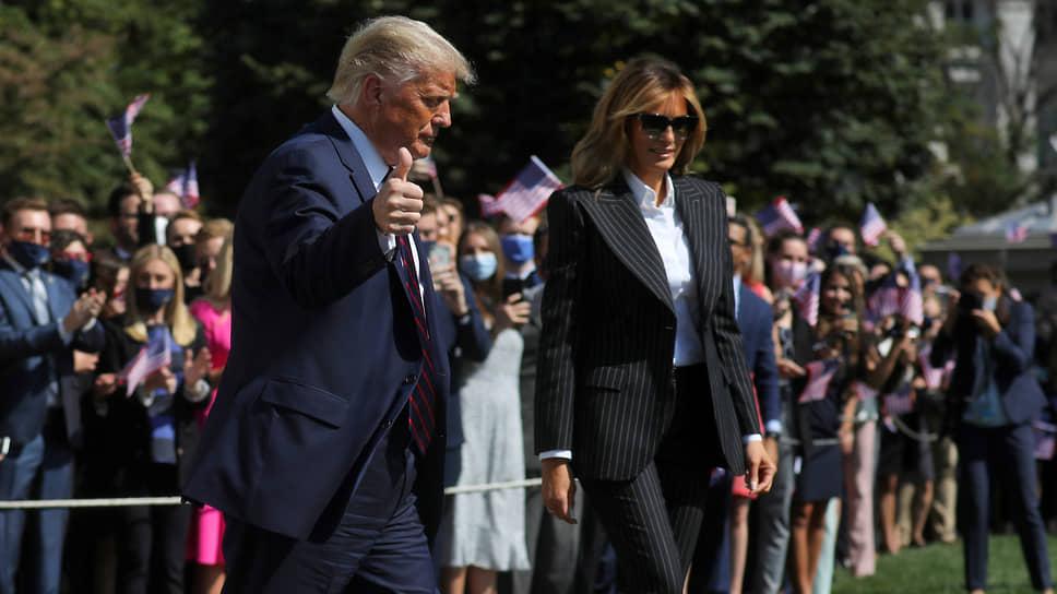 Президент США Дональд Трамп с женой Меланией Трамп