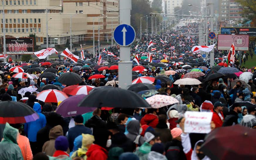 Протестное шествие в Минске