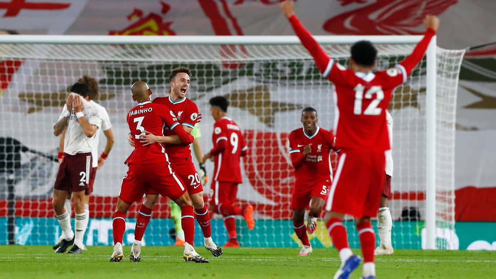 Матч между командами «Ливерпуль» и «Арсенал»