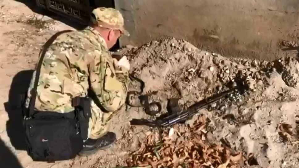 Оружие, найденное у убитых боевиков