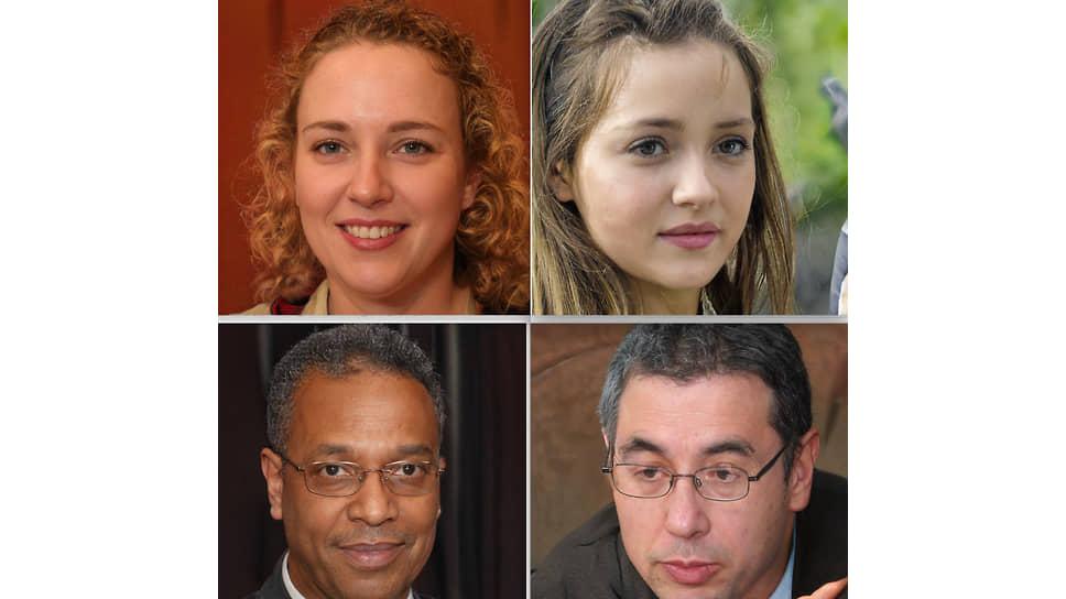 Сгенерированные нейронной сетью StyleGAN2 портреты людей