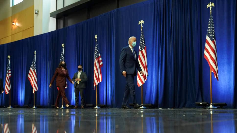 Кандидат в президенты США Джо Байден и его вице-президент Камала Харрис