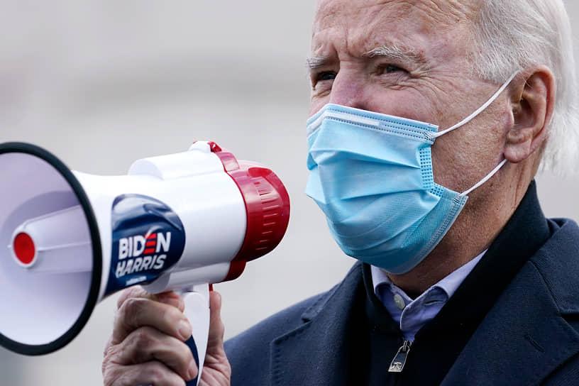 Скрэнтон, Пенисльвания. Кандидат в президенты США Джо Байден на агитационном мероприятии