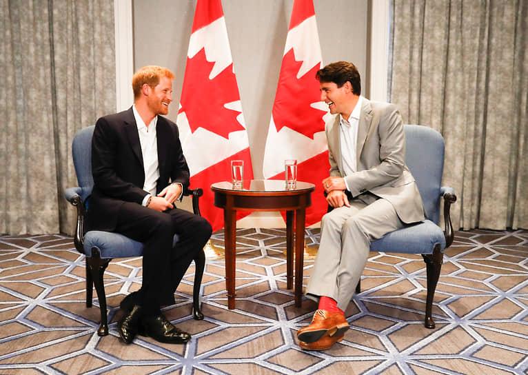 Встреча с принцем Гарри в Торонто, сентябрь 2017 года