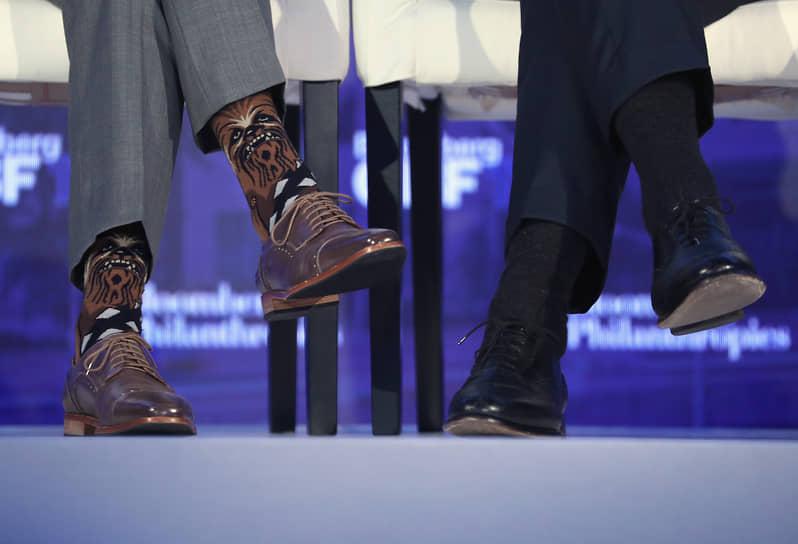 Панельная дискуссия на глобальном бизнес-форуме Bloomberg в Нью-Йорке, сентябрь 2017 года