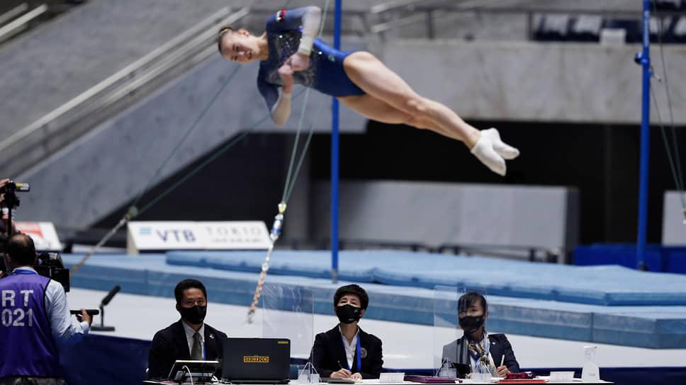 Российская спортивная гимнастка Александра Щеколдина