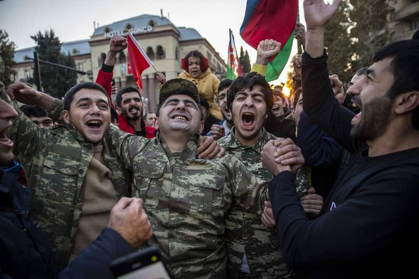 Азербайджанцы празднуют победу