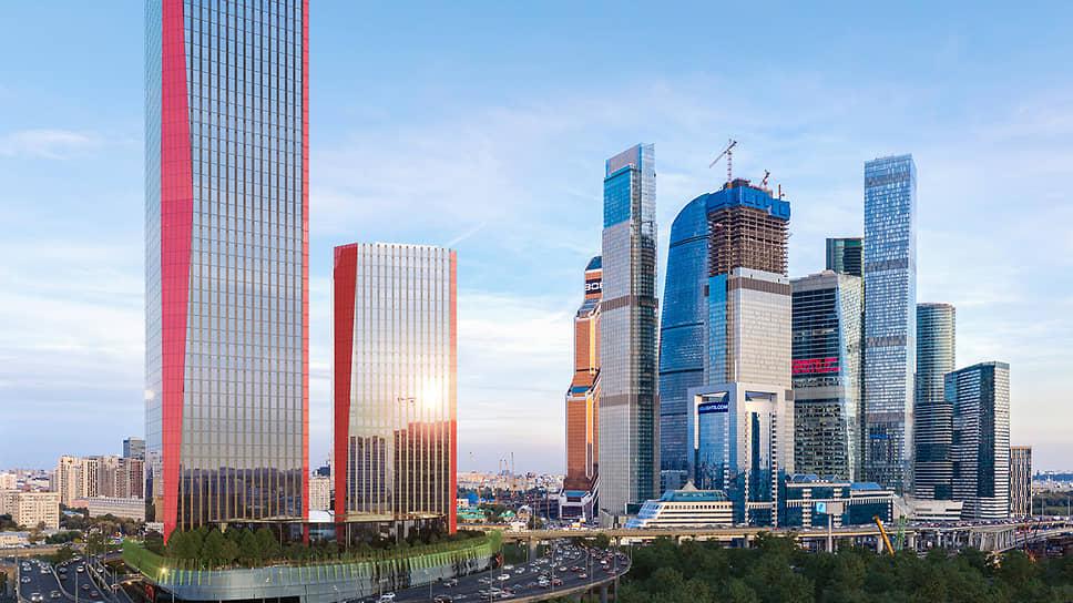 Строящийся деловой кластер iCity в «Москва-Сити»