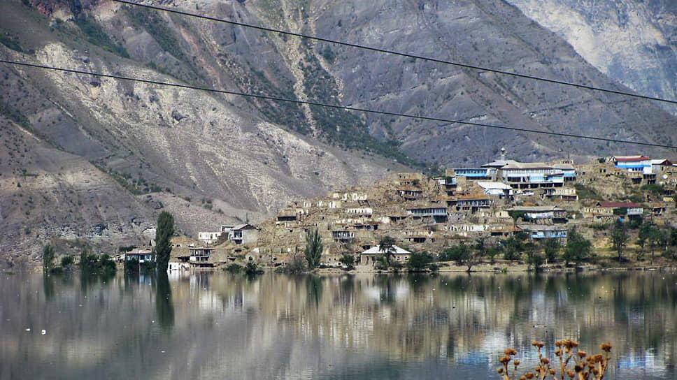Последствия подъема уровня воды в водохранилище Ирганайской ГЭС в районе села Ирганай в 2008 году
