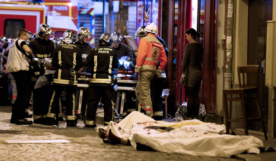 После заявления президента Франции ИГ взяло на себя ответственость за террористическую атаку. В распространенных текстовом заявлении и видео группировка сообщила, что Франция ответила за авиаудары по ИГ в Сирии и остается главной мишенью для атак: «Пока вы продолжаете бомбить, вы не будете жить в мире. Вы будете бояться даже сходить на рынок»