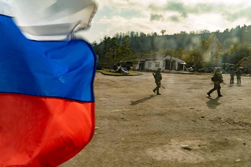 Блокпост российских миротворческих сил возле города Шуша