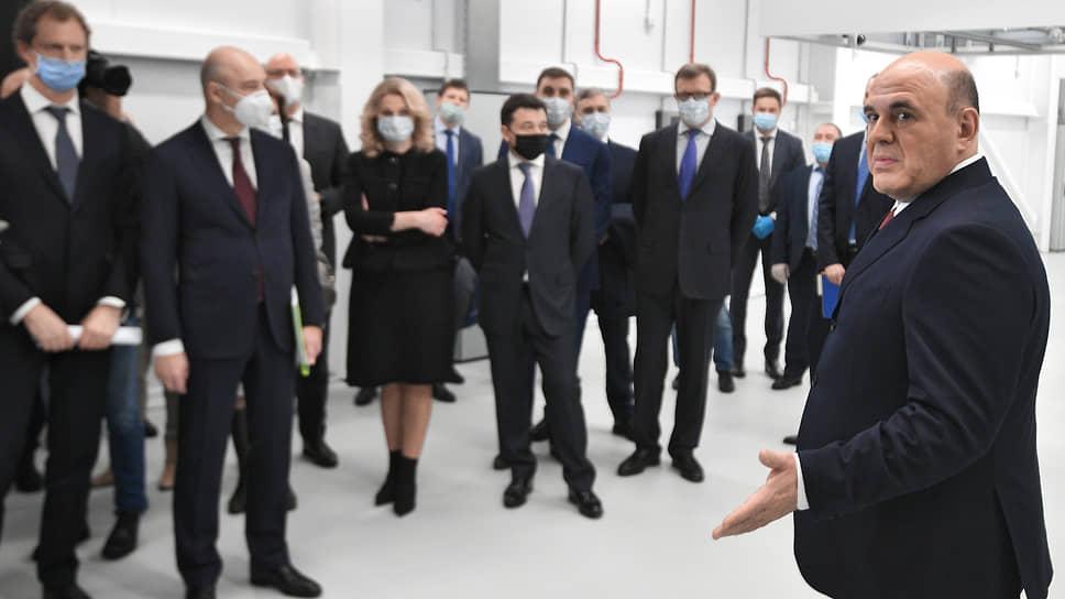 Премьер-министр России Михаил Мишустин во время посещения нового ЦОД ФНС в Дубне