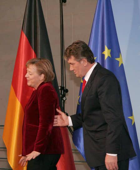 Во время рабочего визита президента Украины Виктора Ющенко в Германию, 2007 год