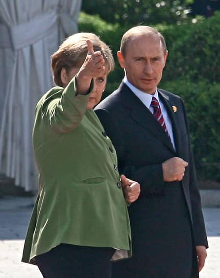 С президентом РФ Владимиром Путиным на саммите G8 в Хайлигендамме, 2007 год