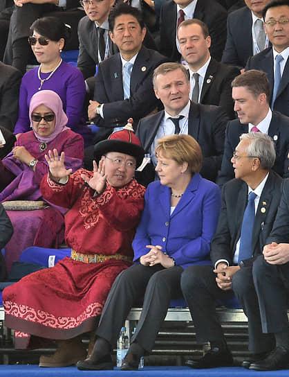 На саммите форума «Азия–Европа» в Улан-Баторе, 2016 год