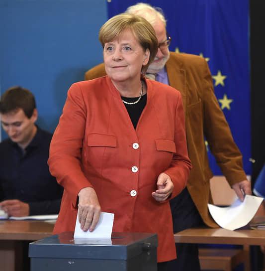 На избирательном участке на территории университета имени Гумбольдта в Берлине во время голосования, 2017 год
