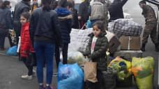 Армянские беженцы возвращаются в свои дома в Степанакерте, оставленные на время войны