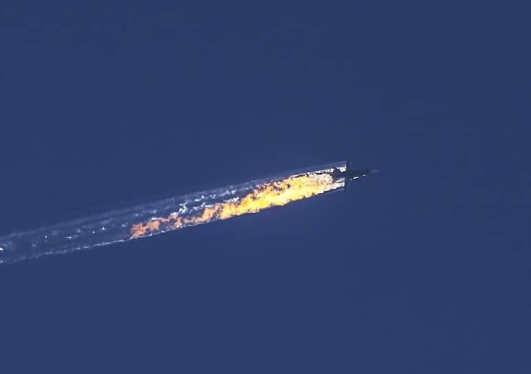 Утром 24 ноября 2015 года российский фронтовой бомбардировщик Су-24М, входивший в авиационную группу в Сирии, был сбит в районе сирийско-турецкой границы ракетой «воздух—воздух», выпущенной самолетом F-16 турецких ВВС