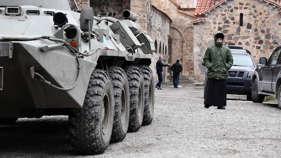 Наблюдательный пост российских миротворческих сил у монастырского комплекса Дадиванк