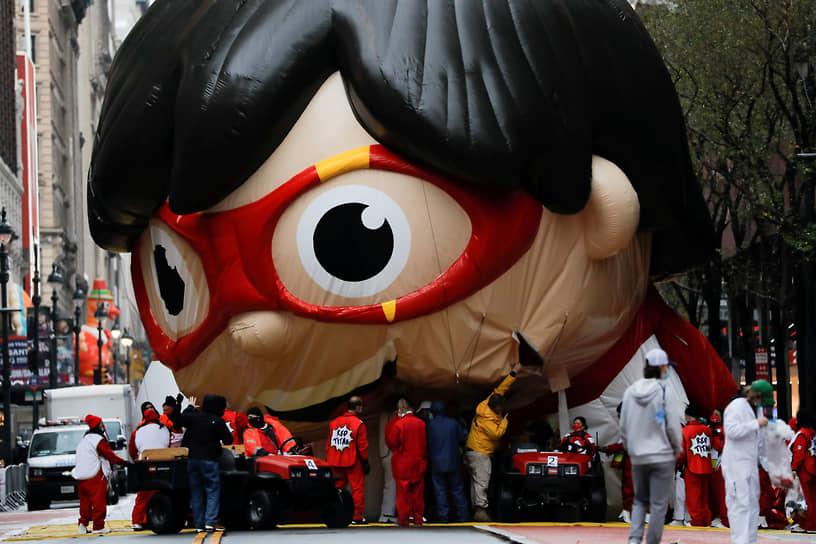 Нью-Йорк, США. Воздушный шар на параде в честь Дня благодарения