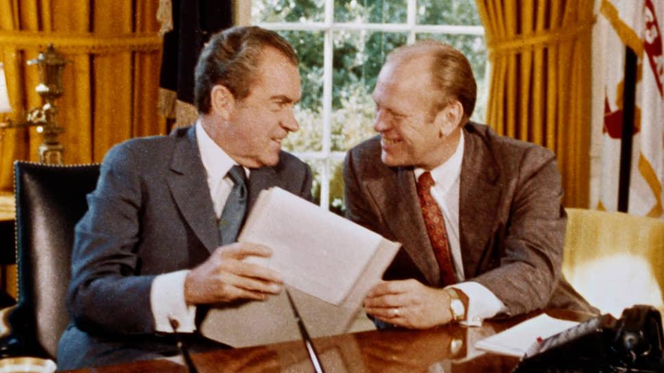 37-й президент США Ричард Никсон и вице-президент Джеральд Форд