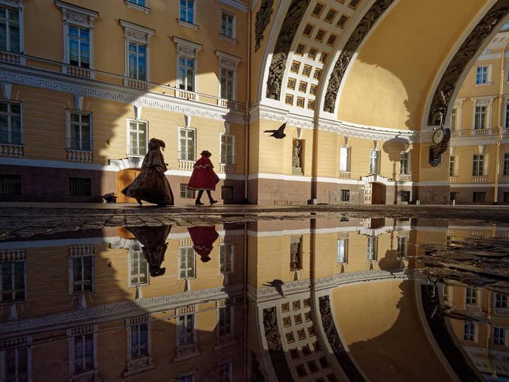Санкт-Петербург. Триумфальная арка здания Главного штаба