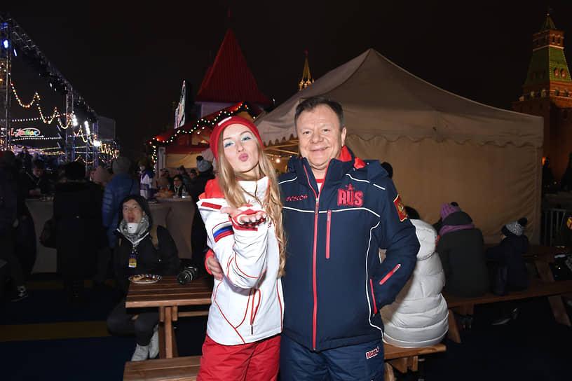 Музыкант Игорь Бутман на церемонии открытия ГУМ-катка