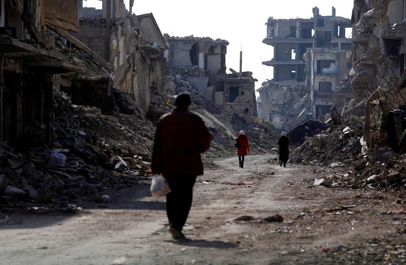 Дамаск, Сирия. Лагерь палестинских беженцев Ярмук