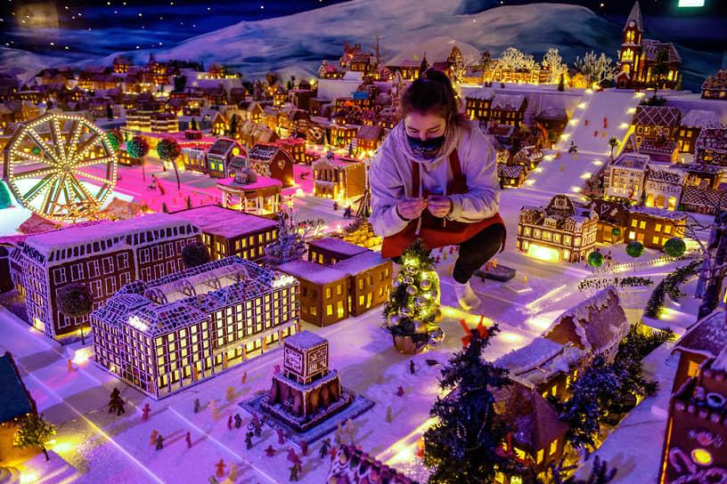 Берген, Норвегия. Игрушечный город, ежегодно устанавливаемый в преддверии Рождества