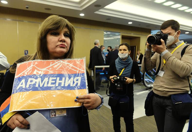 Журналистка из Армении в Центре международной торговли