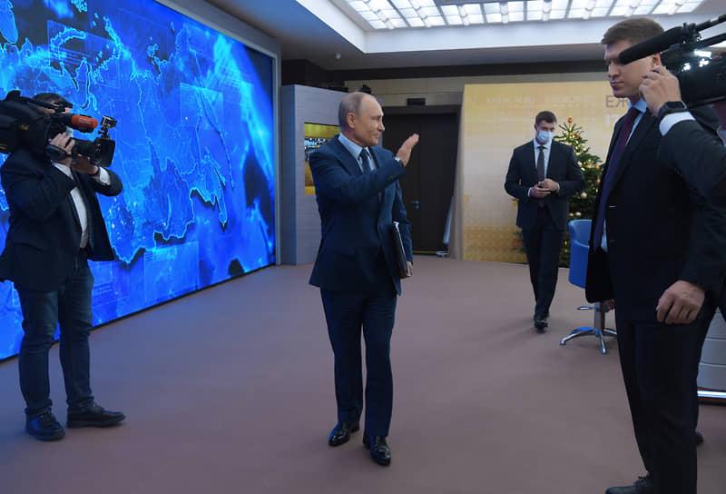 Президент России Владимир Путин после пресс-конференции