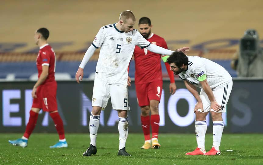 18 ноября сборная России по футболу потерпела самое крупное поражение за последние 15 лет, уступив в матче Лиги Ниций сборной Сербии со счетом 0:5  <br>Заметность: 1 861
