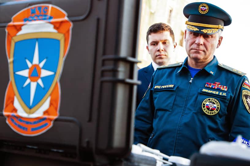 С мая 2018 года министерством руководит выходец из ФСБ Евгений Зиничев. 21 декабря 2020 года ему присвоено воинское звание генерал армии
