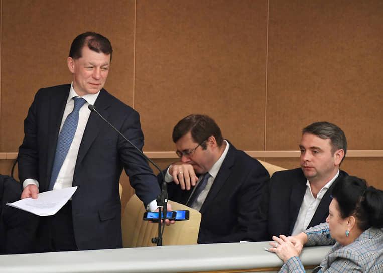 22 января. Бывший глава Минтруда Максим Топилин (слева) был назначен руководителем Пенсионного фонда России