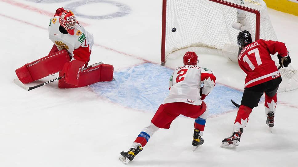 Российские хоккеисты попали под разгром