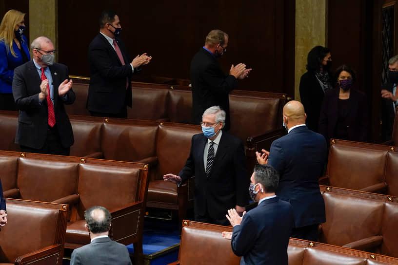 «Поражение»,— заявил после возвращения в Капитолий лидер республиканского большинства Сената Митч Макконнелл