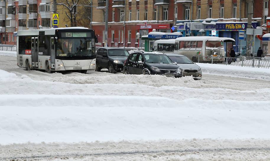 Движение транспорта в Самаре было затруднено
